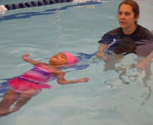 Practicing Floating with Ms Gail